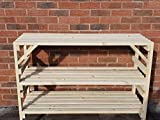 120cm wooden greenhouse staging potting bench 3 Tier