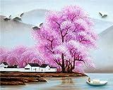 Nuevo producto kit de pintura al óleo / pintura por números / sin marco / decoración del hogar pintura muy significativa-hermoso pueblo de flores