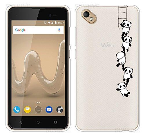 Sunrive Für Wiko Sunny 2 Plus Hülle Silikon, Handyhülle Schutzhülle Etui Hülle Backcover für Wiko Sunny 2 Plus 5,0 Zoll(TPU Panda 1)+Gratis Universal Eingabestift