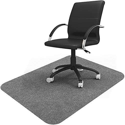Vicwe Office Chair Mat, 1/6' Thick 48' x 36' Multi-Purpose Low Pile Desk Chair Mat for Hardwood Floor Only , Upgraded Version (Light Gray, 36'x48')