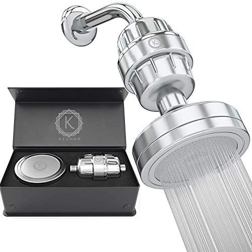 KIZHER 15 Stage Shower Filter for Hard Water Set and Shower Head Filter