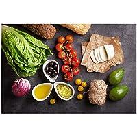 YQQICC 野菜料理用品食品フルーツキッチンキャンバス絵画壁アート写真リビングルームの壁アート家の装飾-40x60cmフレームなし
