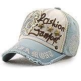 Gorra de béisbol Unisex ajustable Hat Tioamy Retro Baseball