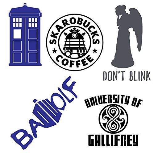 SUPERSTICKI Doctor Who Bonus Pack Includes Decals Decal Sticker Car Home Laptop Dye-Cut by Boston Deals ca. 20 cm sticker autosticker wandtattoo