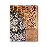ASLKUYT Marokkanische Wandkunst Leinwanddruck Marrakesch