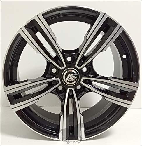 1 Reven Llantas de Aleación NAD 7,5 17 5X120 34 72,6 Compatible Con BMW Serie 3 4 5 6 X1 X3 X4 Negro Brillante Diamante