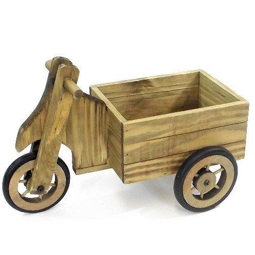Agecroft Garden Centre en bois 3 roues chariot Pot de fleurs 38 cm un excellent Rendu les Planté jusqu'