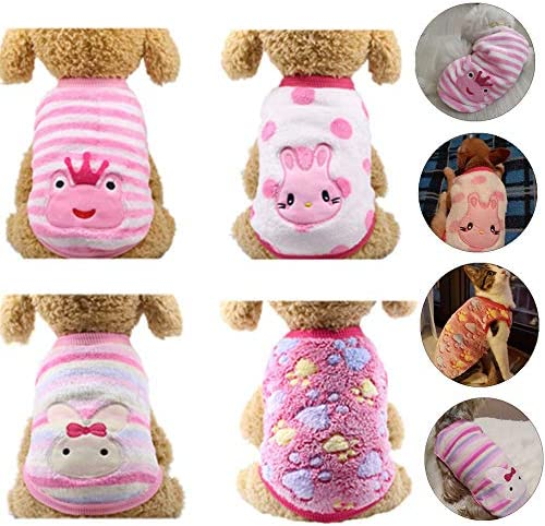 YIKEYO Set of 4 Girl Dog Clothes Chihuahua Clothes XXSmall Tiny Puppy Clothes Girl Yorkie Clothes product image