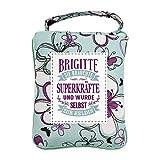 History & Heraldry Design Top Lady Tasche: Brigitte/Einkaufstasche, Strandtasche, Sporttasche, Blumenmuster/vielseitig, praktisch, personalisiert mit Name und Spruch