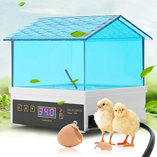 Egg Incubator Chicken Incubators for Hatching Eggs with Temperature Control Poultry Hatcher Machine for Hatch Chicken Duck Goose Bird Quail Eggs, 4 Eggs Blue