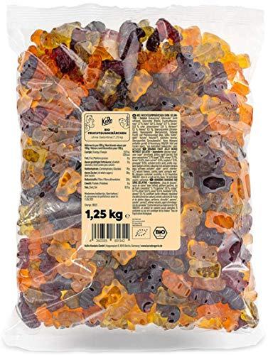 KoRo - Bio Fruchtgummibärchen ohne Gelatine 1,25 kg - Leckere Fruchtgummisüßigkeit in Bärenform - Vegan und vegetarisch
