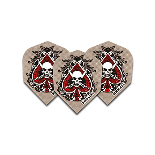 F6041 Ace Skull Dimplex Dart Flights 4 sets pro pack (12 flights insgesamt).