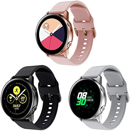 20mm Smart Watch Bands Soft Silicone Quick Release Straps for Samsung Galaxy Watch 3 41mm Galaxy product image