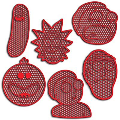 Rick Morty Characters Funny Cookie Cutter Set Cookie Cutters For Butter Christmas X-mas Cookies And Gingerbread Pack All Included