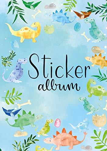 AVERY Zweckform 57793 Stickeralbum Dino mit 16 leeren Seiten (A5 Stickerbuch für Kinder, Jungen, Album zum Sammeln, Dinosaurier Sticker Sammelalbum, Silikonpapier blanko, Kindergeburtstag, Mitbringsel