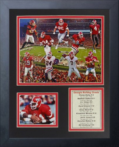 University of Georgia Bulldogs NCAA  Framed Photograph UGA Milestone Collage