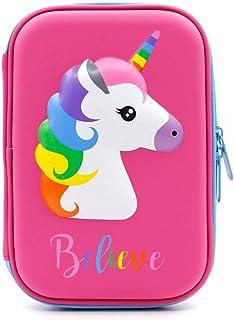 MumooBear 1PCS Cute Unicorn Pencil Case School Supplies Stationery Pencil Case Cartoon Design Hard Shell Cake Pencil Bag w...