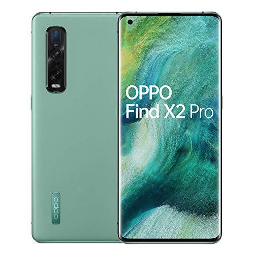 OPPO Find X2 Pro Smartphone, Display 6.7'' OLED, 3, Fotocamere, 12GB RAM + 512GB storage, Batteria 4260mAh, Single Sim, 2020 [Versione italiana], Green