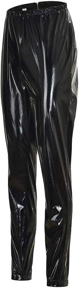 BaZhaHei Mujeres Pu Leggins cuero Skinny El/ásticos pantalones Pantalones de mujer el/ásticos de bolsillo de imitaci/ón de cuero de imitaci/ón pantalones pitillo cintura alta Medias Pantalones cuero mujer
