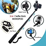 Xtech? Premium 3 in 1 Handheld MONOPOD Pole for DIGITAL Cameras, SMARTPHONES and GoPro Cameras including NIKON COOLPIX AW130, AW120, AW110, AW100, L310, L24, L22, L20, L330, L320, L620, L610, P7800, P7700, L840, L830, L820, P900 P610, P600, P530, P340, L810, P4, P3, S810c, S9900, S7000, S6900, S3700, S2900, S33, S32, S9700, L32, L31 L30, S510, S500, S200, S700, S600, S750, L28, L26, L120, L110, L100, L19 S210, S205, S520 and All Digital Cameras. [並行輸入品]