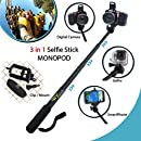 Xtech? Premium 3 in 1 Handheld MONOPOD Pole for DIGITAL Cameras, SMARTPHONES and GoPro Cameras including NIKON COOLPIX AW130, AW120, AW110, AW100, L310, L24, L22, L20, L330, L320, L620, L610, P7800, P7700, L840, L830, L820, P900 P610, P600, P530, P340, L810, P4, P3, S810c, S9900, S7000, S6900, S3700, S2900, S33, S32, S9700, L32, L31 L30, S510, S500, S200, S700, S600, S750, L28, L26, L120, L110, L100, L19 S210, S205, S520 and All Digital Cameras.  並行輸入品