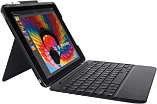 Logitech Slim Combo Case with Detachable Backlit Bluetooth Keyboard for iPad (5th & 6th Generation), Black