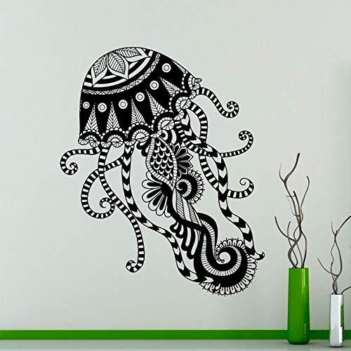 zangtang kwallen patroon muur applicatie zeedier vinyl sticker zee decoratie creatieve binnenwand kunst mode kamerdecoratie