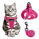 ღ Fit Small Medium Large Cats: Notre harnais chat reglable a 3 tailles, veuillez vous assurer que la poitrine de votre chat correspond à une taille de tableau avant de passer une commande. Il peut y avoir des différences entre les différentes races. ...