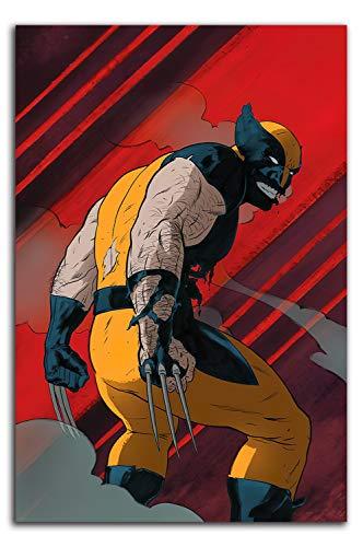Wolverine Büro-Wanddekoration, Kunstwerk, Kunstdruck, 61 x 91,4 cm, Motiv: X Männer, Wolverine, Kunstdruck, schickes Büro, ungerahmt