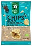 Probios Chips di Ceci e Pepe Nero Bio - Senza Glutine - Confezione da 12 x 40g