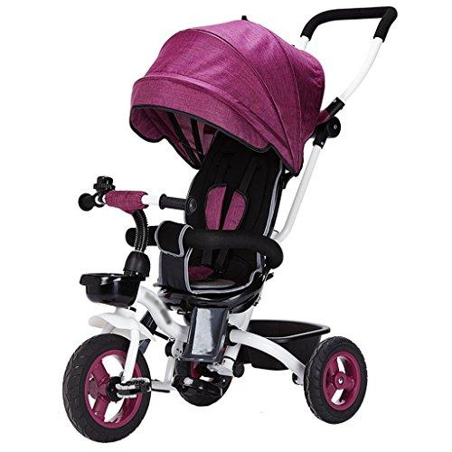 CAIM kinderwagens 4 in 1 kinderen vouwen driewieler voor 6 maanden tot 6 jaar oud opvouwbare 3 wiel pushtrikes maximaal gewicht 25 kg baby vervoer