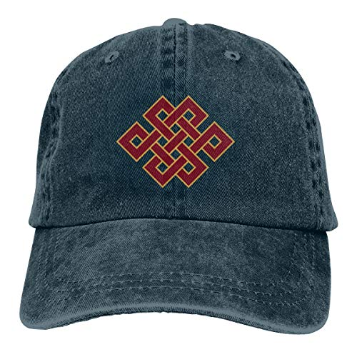 KioHp boeddhisme eindeloze knoop klassieke effen polostijl cowboy hoed fit outdoor activiteiten snel drogen laag profiel hoed marine