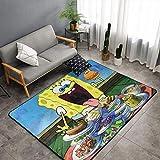 Alfombra de cocina de Bob Esponja Matt Flowe de 4 x 6 pies Bob Esponja comete hamburguesa TV Película niños gateando alfombra para habitaciones de niños