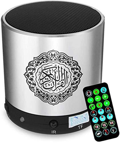 Asncnxdore Compra Fácil Portátil Altavoces Del Corán Corán Jugador-Wireless Tarjeta Árabe Altavoz Bluetooth Con Soporte Digital Corán Traducción, Que Seleccione Su Idioma Nativo For Entender Corán Sig