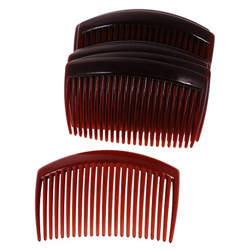Baoblaze 12x Haarkamm Haarschmuck Haarclip 23 Zähne Einsteckkamm Haarnadel Haarbänder für Damen und Frauen Zubehör - Kaffee