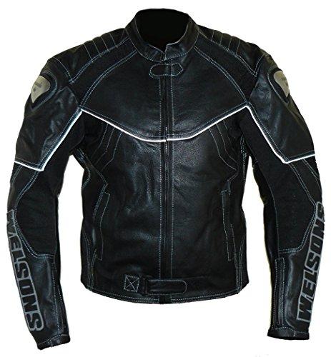 Protectwear Moto - giacca di pelle nera WMB-303, taglia 62 / 5XL