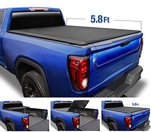 Tyger Auto T3 Soft Tri-Fold Truck Bed Tonneau...