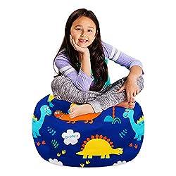 5. Posh Stuffable Kids Dinosaur Bean Bag Chair Cover