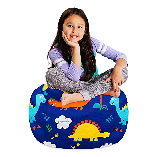 Posh Stuffable Kids Stuffed Animal Storage Bean Bag Chair Cover - Childrens Toy Organizer, Medium 27' - Canvas Animals Forest Critters