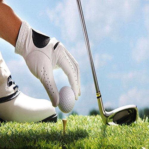 Leuchtende Golfbälle, 6 Stück Golf Übungsbälle, LED Leuchte Golf, Elektronische LED Leuchtgolfbälle für Nachttraining Mit Großer Reichweite und Distanzschüssen (Blaulicht) (Grünes Licht) - 4