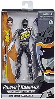 Hasbro Power Rangers Lightning Collection 15 cm Dino Charge Black Ranger Premium Action Figure à Collectionner avec Access...