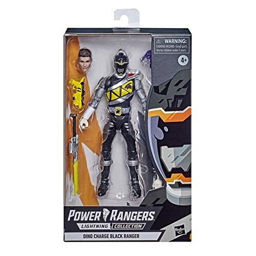 Hasbro Power Rangers Lightning Collection 15 cm große Dino Charge Schwarzer Ranger Premium Action-Figur zum Sammeln mit Accessoires