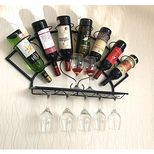 XXSHN Living Equipment Wine Rack Wall Hanging Simple Modern Hanging Wardrobe Wine Cabinet Wine Glass Holder Wall Hanging Wall Fan Creative Ornaments