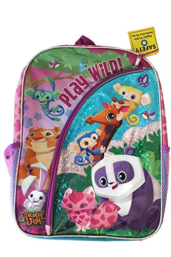 Animal Jam Play Wild 16 inch Backpack with Side Mesh Pockets