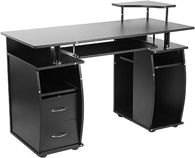 Junww Mesa de Estudio Escritorio for computadora portátil con ...