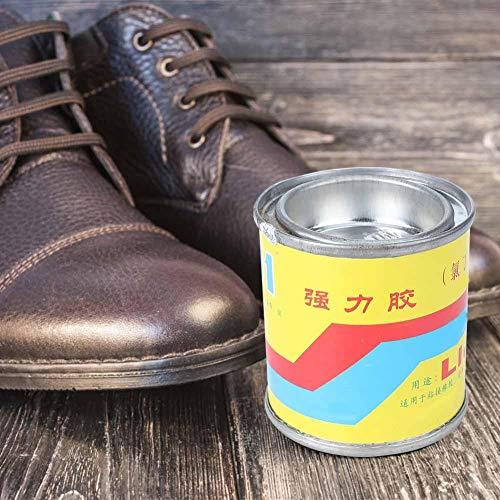 Pegamento para zapatos, Pegamento de zapatos enlatado Super adhesivo para zapatos, Agua de color amarillo 100ML/Botella para la unión de caucho de tela de cuero de plástico de cerámica de madera