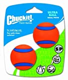 Chuckit! Small Ultra Ball 2-Inch, 2-Pack by Canine Hardware (English Manual)