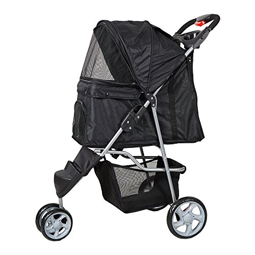 KARMAS PRODUCT 3 Wheels Elite Jogger Pet Cat,Dog,Stroller Folding Travel Carrier
