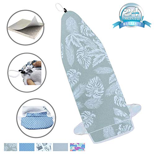 14'x42' Heat Resistance Metallic Over-The-Door Ironing Board Cover Durable Thicken Felt Material...
