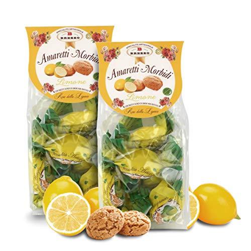Amaretti Sabor Limón - Galletas Italianas de Almendra - 150 Gramos (Paquete de 2 Piezas)